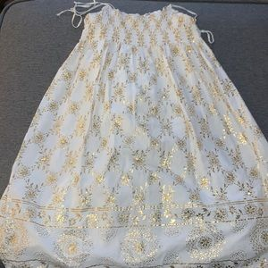 Gold and white Gap dress